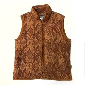 Patagonia Brown Floral Insulated Puffer Vest